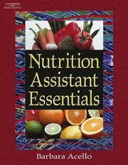 Cover of: Nutrition Assistant Essentials by Barbara Acello
