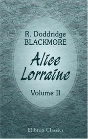 Cover of: Alice Lorraine by R. D. Blackmore