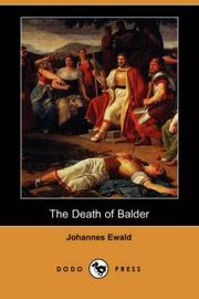 Cover of: The death of Balder by Johannes Ewald