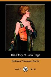 Cover of: The story of Julia Page by Kathleen Thompson Norris