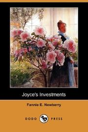 Cover of: Joyce's Investments by Fannie E. Newberry