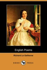Cover of: English poems by Richard Le Gallienne