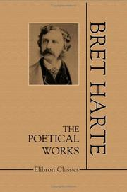 Cover of: Poems by Bret Harte