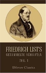 Cover of: Friedrich List's gesammelte Schriften by Friedrich List