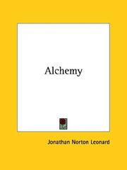 Cover of: Alchemy by Jonathan Norton Leonard