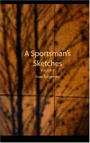 Cover of: A Sportsman\'s Sketches, Volume 2 by Ivan Sergeevich Turgenev
