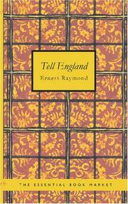 Cover of: Tell England by Ernest Raymond