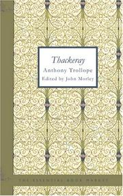Cover of: Thackeray by Anthony Trollope