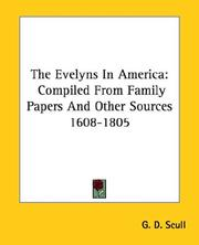 Cover of: The Evelyns in America by G. D. Scull