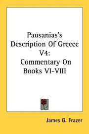 Cover of: Pausanias's Description Of Greece V4 by James George Frazer