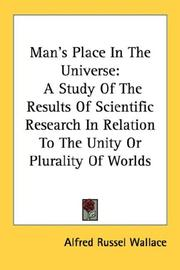 Cover of: Man's place in the universe by Alfred Russel Wallace