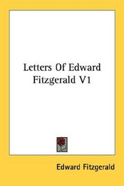 Cover of: Letters Of Edward Fitzgerald V1 by Edward FitzGerald