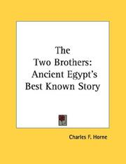 Cover of: The Two Brothers by Charles F. Horne