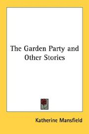 Cover of: The Garden Party and other stories by Katherine Mansfield