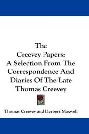 Cover of: The Creevey papers by Thomas Creevey