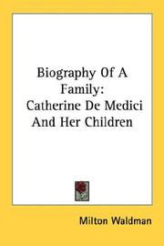 Cover of: Biography Of A Family by Milton Waldman