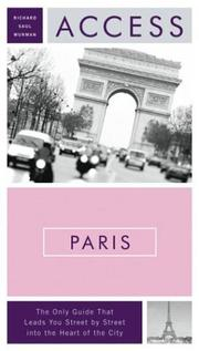 Cover of: Access Paris 9e (Access Guides) by Richard Saul Wurman