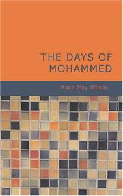 Cover of: The Days of Mohammed by Anna May Wilson