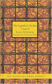 Cover of: The Legends of the Jews, Volume 2 by Louis Ginzberg