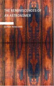 Cover of: The reminiscences of an astronomer by Simon Newcomb