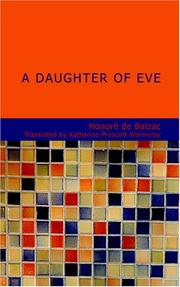 Cover of: A Daughter of Eve by Honoré de Balzac