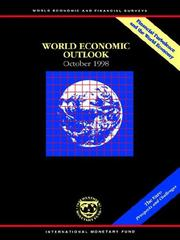 Cover of: World economic outlook by International Monetary Fund.