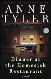 Cover of: Dinner at the Homesick Restaurant by Anne Tyler