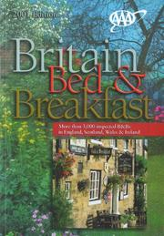Cover of: AAA Britain Bed & Breakfast Guide by American Automobile Association.