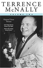 Cover of: Terrence McNally, Vol. 2 by Terrence McNally