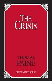 Cover of: The Crisis by Thomas Paine