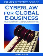 Cover of: Cyberlaw for Global E-business by Takashi Kubota