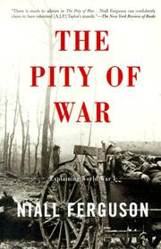 Cover of: The Pity of War by Niall Ferguson