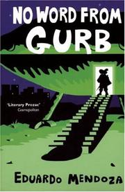 Cover of: No Word from Gurb by Eduardo Mendoza