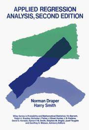 Cover of: Applied regression analysis by Norman Richard Draper