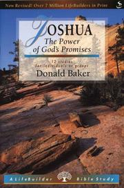 Cover of: Joshua (Lifebuilder) by Donald Baker