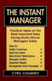 Cover of: The Instant Manager by Cyril Charney