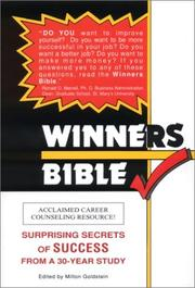 Cover of: Winners Bible by Milton Goldstein