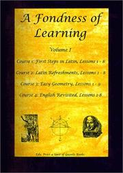 Cover of: A Fondness of Learning by Peter Bruckner