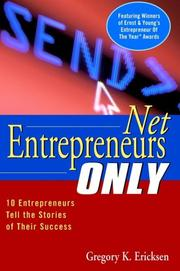Cover of: Net Entrepreneurs Only by Ernst & Young LLP