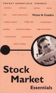 Cover of: Stock Market Essentials by Victor A. Cuadra