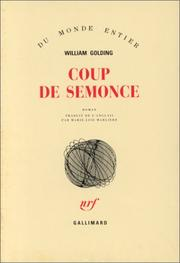 Cover of: Coup de semonce by William Golding