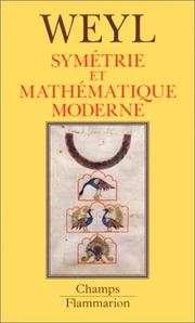 Cover of: Symetrie et mathematique moderne by Hermann Weyl
