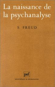 Cover of: La Naissance de la psychanalyse, 7e édition by Sigmund Freud