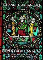 Cover of: Eleven great cantatas by Johann Sebastian Bach