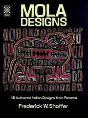 Cover of: Mola design coloring book by Frederick W. Shaffer
