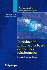 Cover of: Introduction pratique aux bases de données relationnelles (Collection IRIS) by Andreas Meier