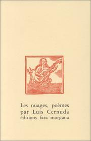 Cover of: Les Nuages by Luis Cernuda
