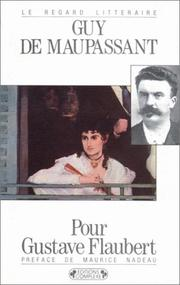 Cover of: Pour Gustave Flaubert by Guy de Maupassant