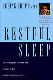 Cover of: Restful Sleep by Deepak Chopra, Deepak Chopra