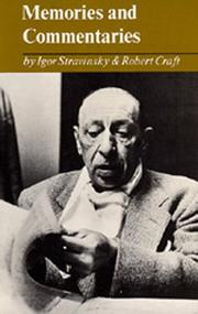 Cover of: Memories and commentaries by Igor Stravinsky